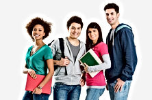 Agência de estagiários em Marília. Vagas para estagiários na cidade de Marília. Estudantes para estágio em empresas de Marília SP. Cadastro de currículo de estágios em Marília. Foto bigstock-Group-Of-Multi-Ethnic-Students-48987224