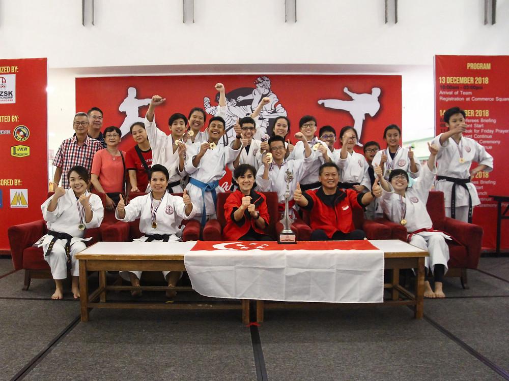 champions, singapore, karate