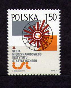 Poland 1975 International Statistical Institute (ISI) emblem Sc 2115