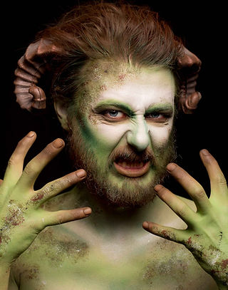 Special effects make up the character and make up interpretation of the mythical pan