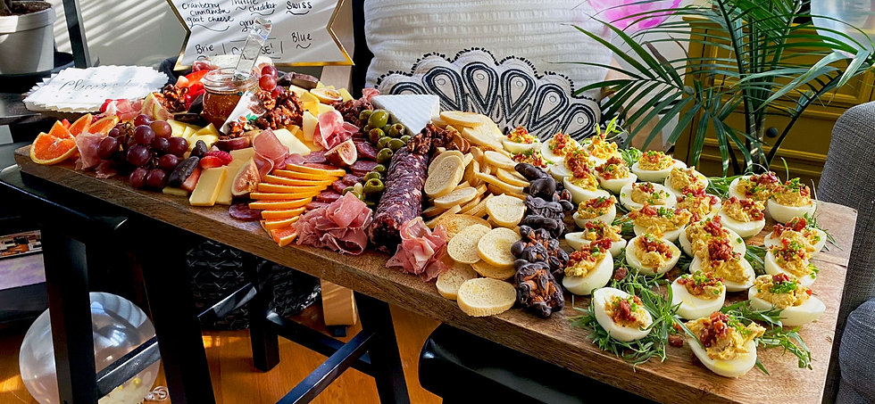 Catered custom charcuterie board