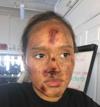 Dirt, cuts, and grime make up