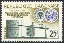 Gabon 1964 World Meteorological Day