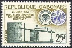 Gabon 1964 World Meteorological Day