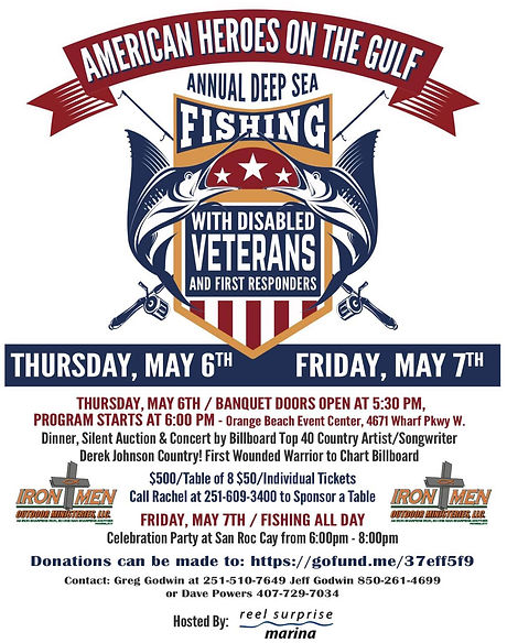 American Heroes On The Gulf Annual Deep Sea Fishing With Disabled Veterans & First Responders - Derek Johnson Country Event
