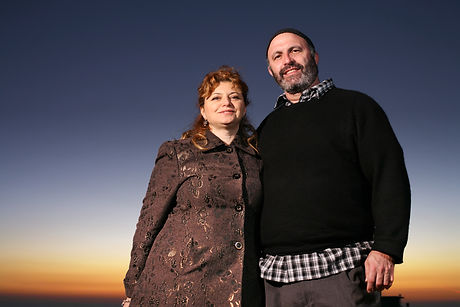 Portrait of happy jewish mature couple outdoors