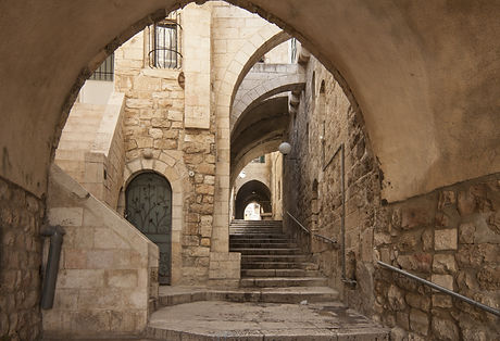 Old city hidden passageway, stone stairway and arch.jpg