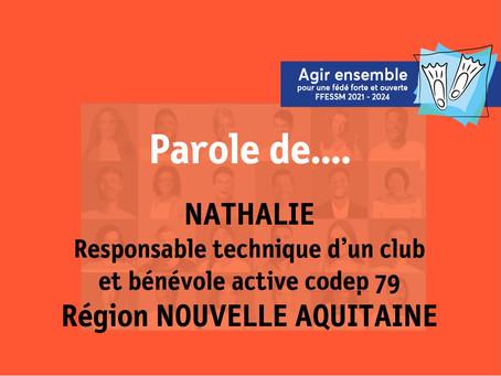 Parole de... Nathalie, responsable technique en club et bénévole active au codep 79