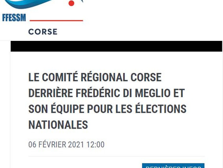La région Corse soutient notre liste !