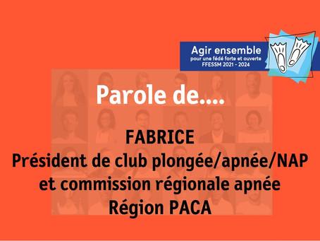 Parole de... Fabrice président d'un club Plongée/Apnée/NAP et commission régionale Apnée