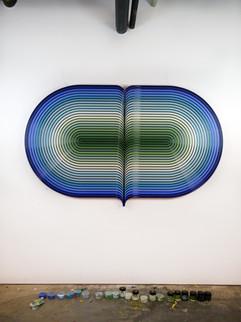 Orbit blue/green (SOLD)