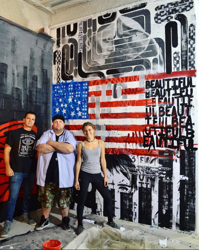911 Mural Project Collaboration in 4 World Trade Center!