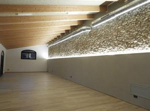 Sala amb el llum d'ambient
