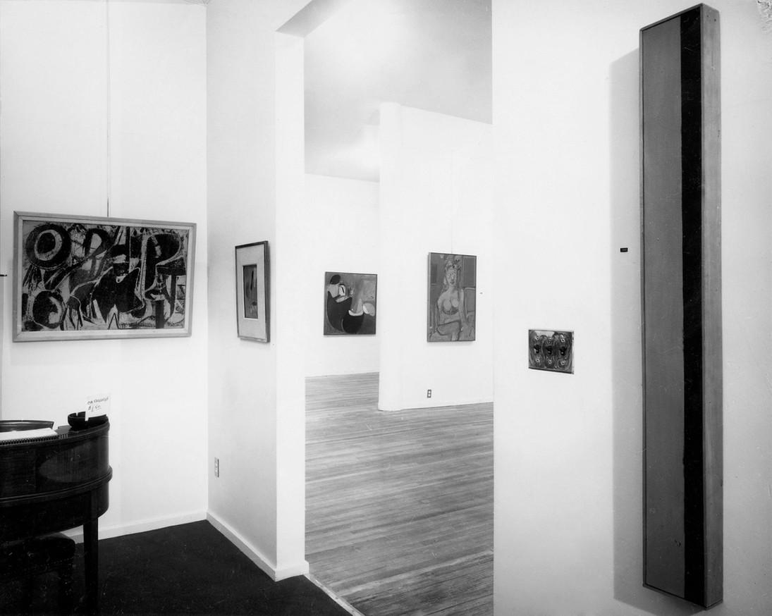 Installation View: de Kooning/Newman October 23 - November 17, 1962 Allan Stone Gallery
