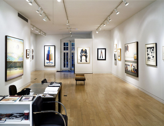 Installation View Wayne Thiebaud Since 1962: A Survey April 2 - May 27, 2005 Allan Stone Gallery
