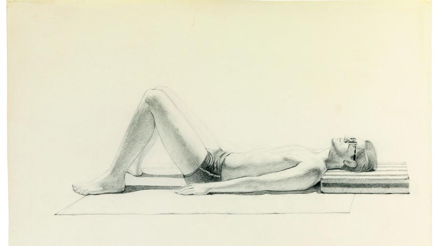 Wayne Thiebaud Figure Drawings