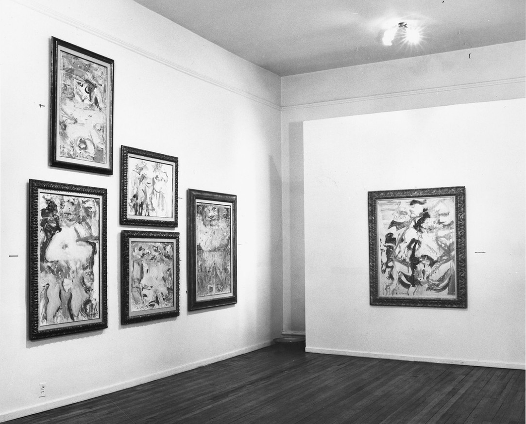 Installation View: de Kooning/Cornell, February 2-March 13, 1965, Allan Stone Gallery