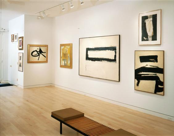 Installation View Franz Kline: Architechture & Atmosphere October 28, 1997 - January 17, 1998 Allan Stone Gallery