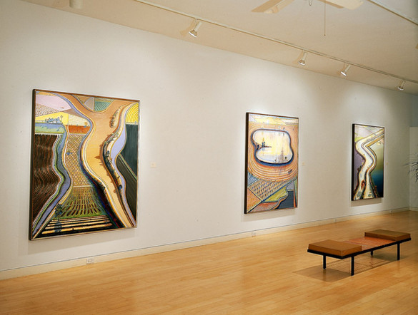 Installation View Wayne Thiebaud: Riverscapes February 5 - March 19, 2003 Allan Stone Gallery