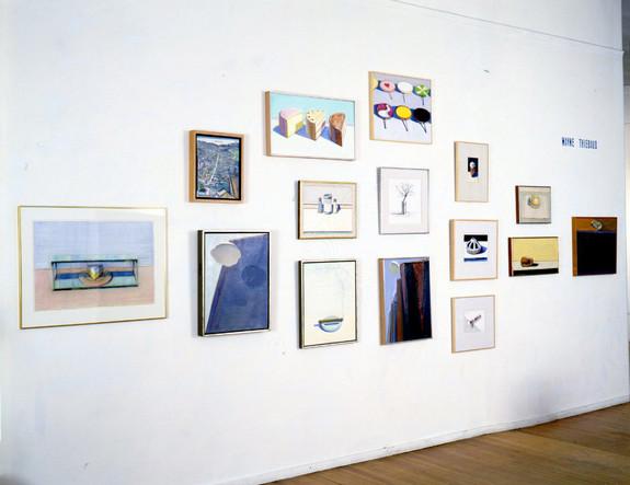 Installation View Wayne Thiebaud: 25th Anniversary March 1986 Allan Stone Gallery