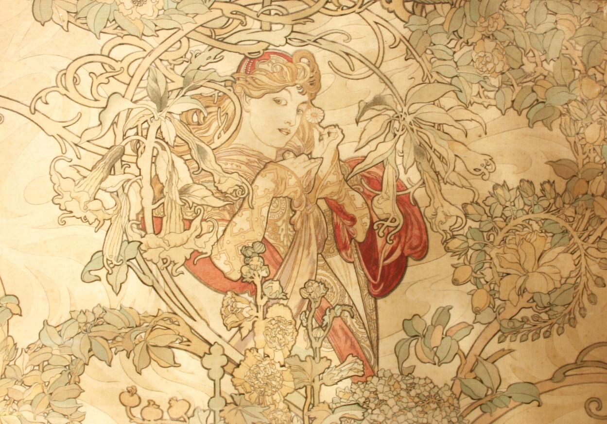 Art Nouveau Velvet by Alphonse Mucha