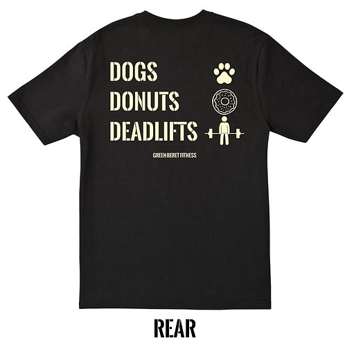 GBF Dogs Donuts Deadlifts t-shirt