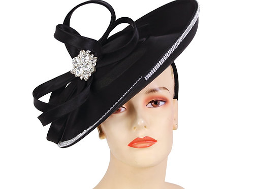#195 Black or Steel Blue Fascinator