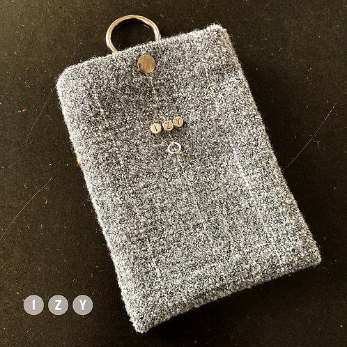 IZY XS gris clair avec motif carreaux argenté