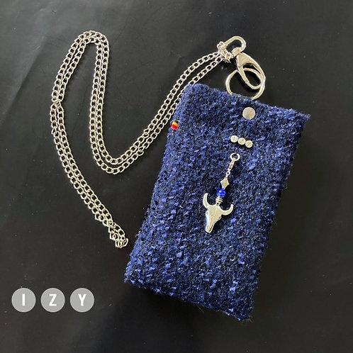 IZY Small  bleu métallisé
