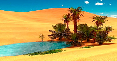 """""""Encontrar oásis em nosso deserto"""""""