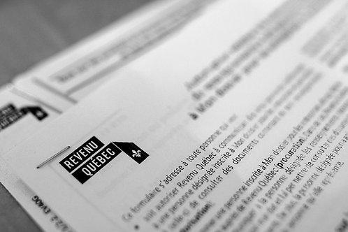 Déclaration d'impôt personnel