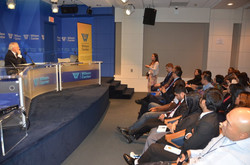 Q&A session at the Wilson Center