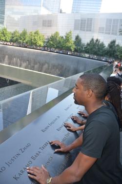 Delegates at the 9/11 Memorial