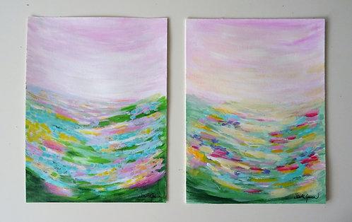 """""""Twin Landscapes"""" - 36x48cm"""