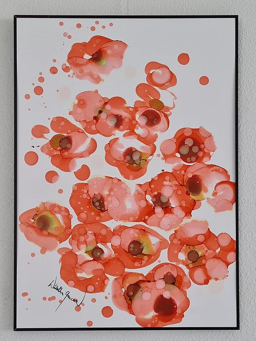 """Mountain Roses 2"" - 70x50cm"