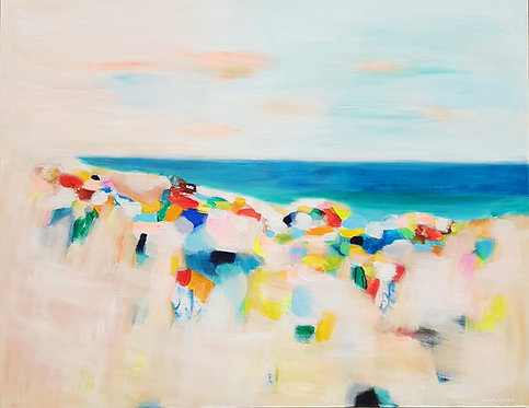 """Flamenco Beach""- 90x70cm"