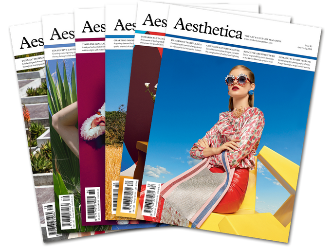 Artist in the Aesthetica Magazine