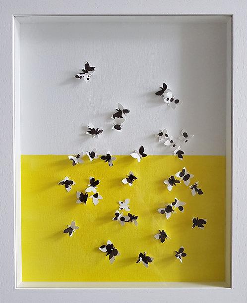 """""""Dalmatian Butterflies"""" - 50x40x5cm"""