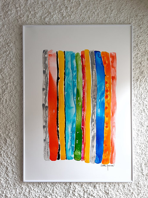 """Orange Stripes"" - 70x100cm"