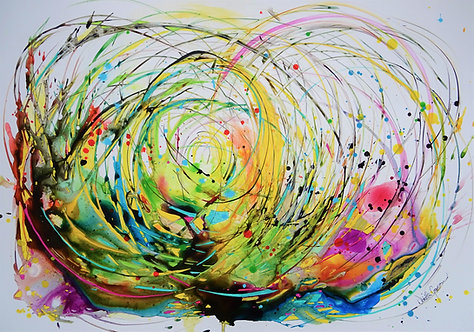 """Flow"" - 70x100cm"