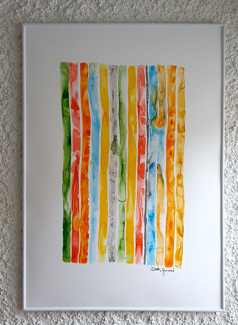 """Pastell Stripes"" - 70x100cm"