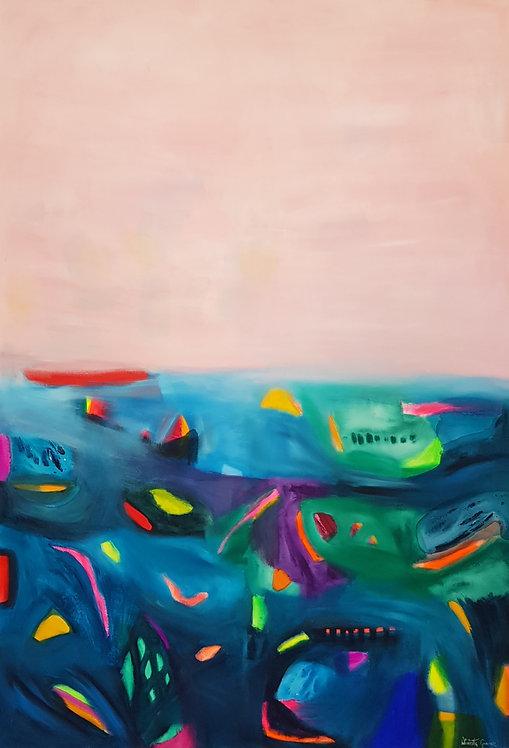 """""""Happiness 11""""- 145x100x2cm"""