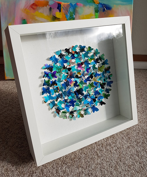 "Box""Happy Butterflies Circle"" -  27x27x6cm"
