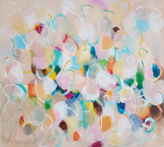 """""""Colours of Heaven"""" - 100x90x2cm"""