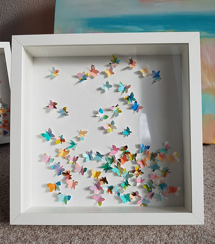 "Box ""Happy Butterflies Pastel"" -  27x27x6cm"