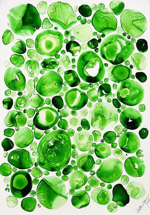 """Water Drops"" - 70x100cm"