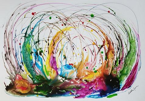 """Flow 4"" - 70x100cm"