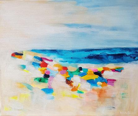 """""""At the beach 4""""- 60x50cm"""