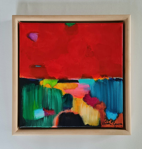 Lucky Charm Red - 34x34cm