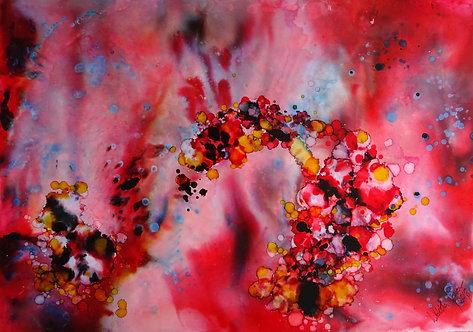 """""""Red"""" - 70x100cm Original Painting"""